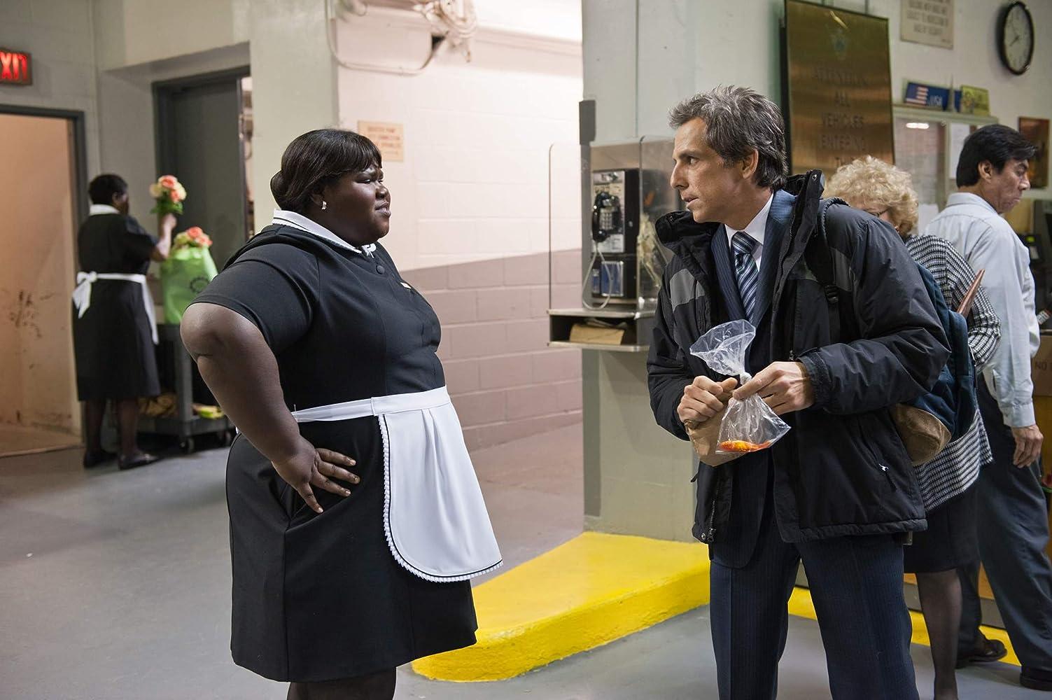 Ben Stiller and Gabourey Sidibe in Tower Heist (2011)