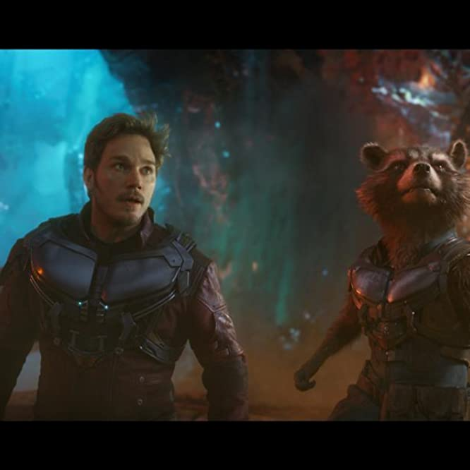 Bradley Cooper and Chris Pratt in Guardians of the Galaxy Vol. 2 (2017)