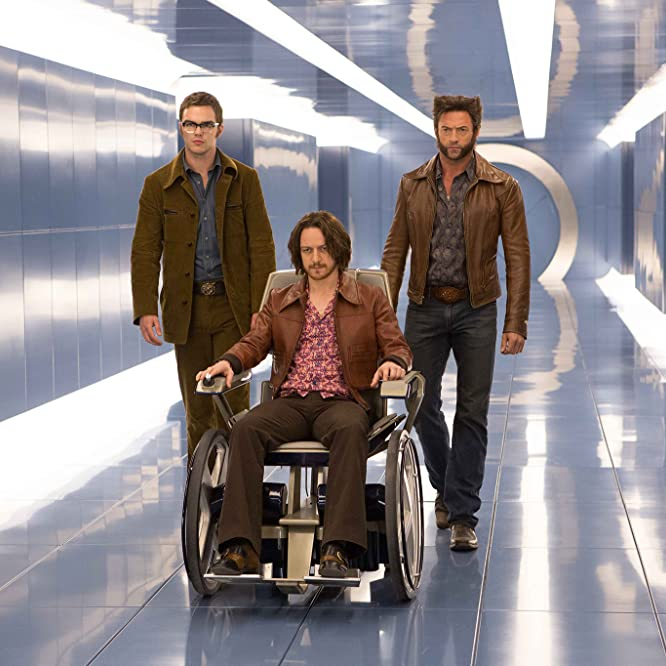 Nicholas Hoult, Hugh Jackman, and James McAvoy in X-Men: Days of Future Past (2014)