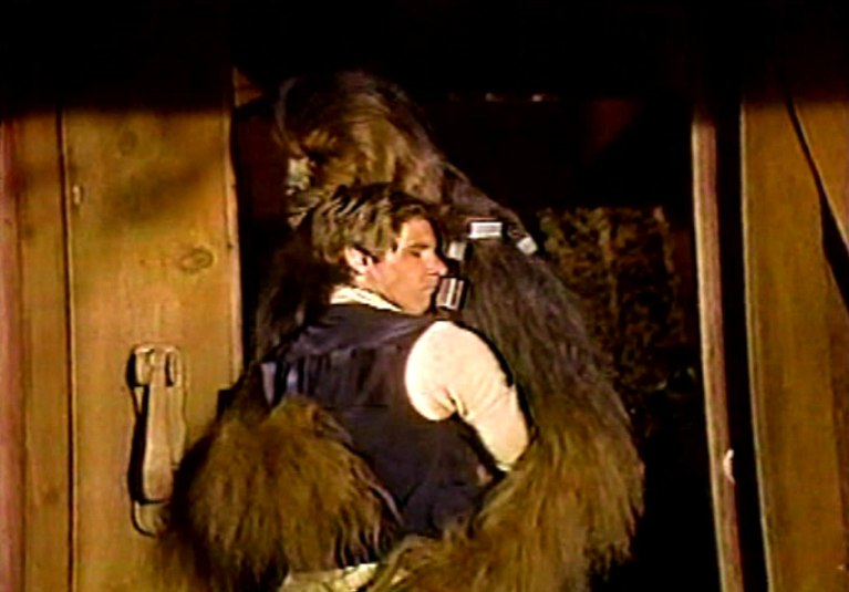 Harrison Ford and Peter Mayhew in The Star Wars Holiday Special (1978)