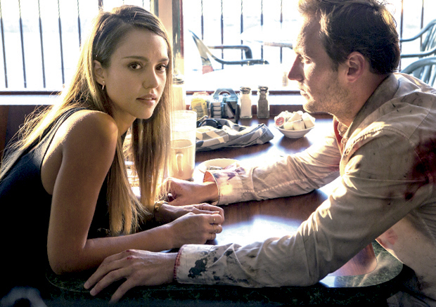 Jessica Alba and Patrick Wilson in Stretch (2014)