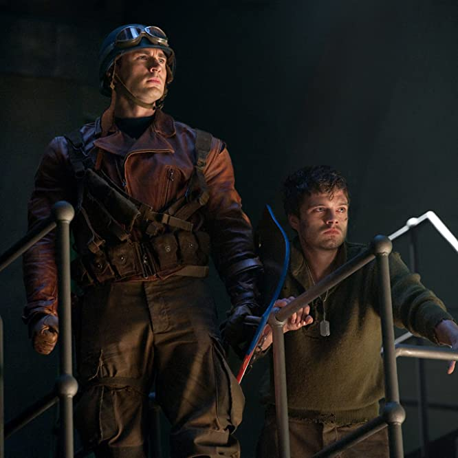 Chris Evans and Sebastian Stan in Captain America: The First Avenger (2011)