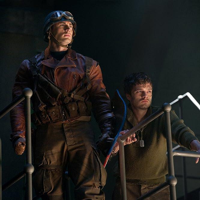Chris Evans and Sebastian Stan in Captain America: The First Avenger (2011)