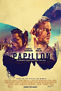 "The story of Henri ""Papillon"" Charrière (Charlie Hunnam), a safecracker from the Parisian underworld who is framed for murder and condemned to life in the notorious penal colony on Devil's Island. Determined to regain his freedom, Papillon forms an unlikely alliance with a convicted counterfeiter Louis Dega (Rami Malek), who in exchange for protection, agrees to finance Papillon's escape."