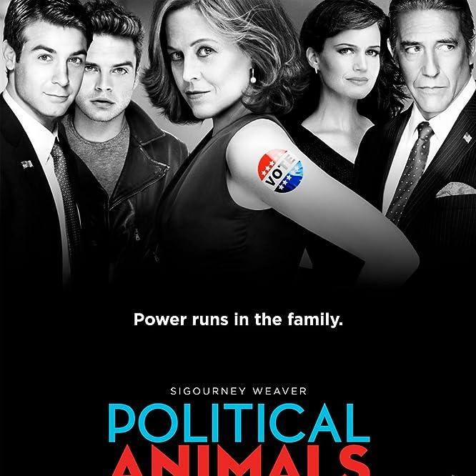 Sigourney Weaver, Carla Gugino, Ciarán Hinds, Sebastian Stan, and James Wolk in Political Animals (2012)