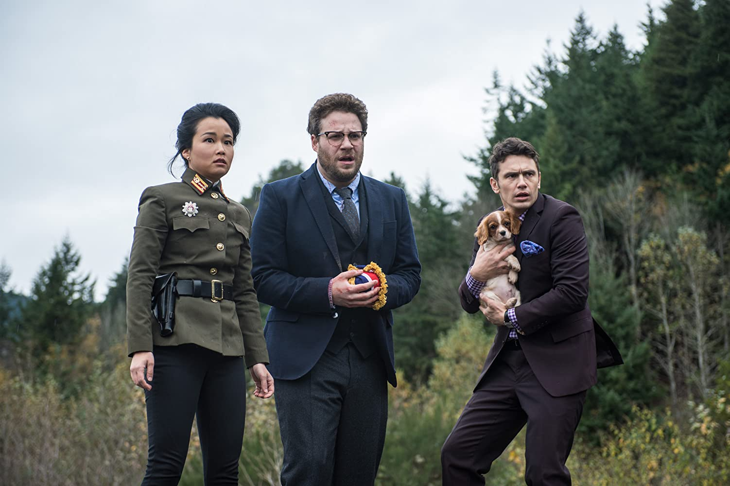 James Franco, Seth Rogen, and Diana Bang in The Interview (2014)