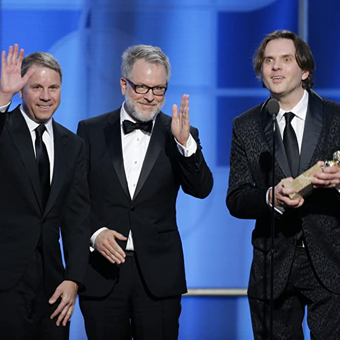 Byron Howard, Rich Moore, and Clark Spencer at an event for The 74th Golden Globe Awards (2017)