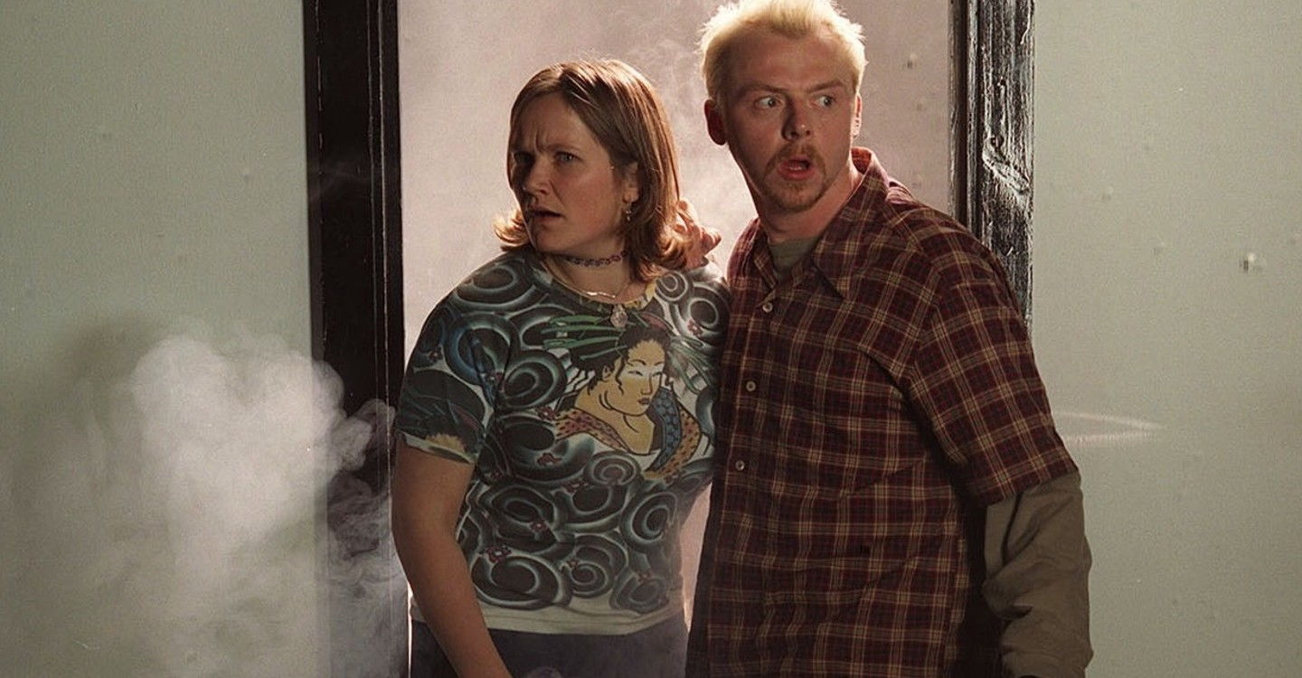 Simon Pegg and Jessica Hynes in Spaced (1999)