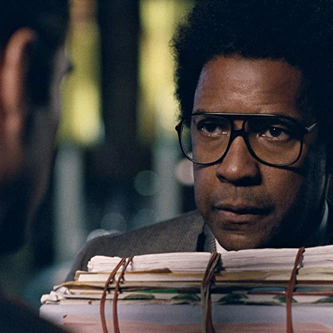 Denzel Washington and Colin Farrell in Roman J. Israel, Esq. (2017)