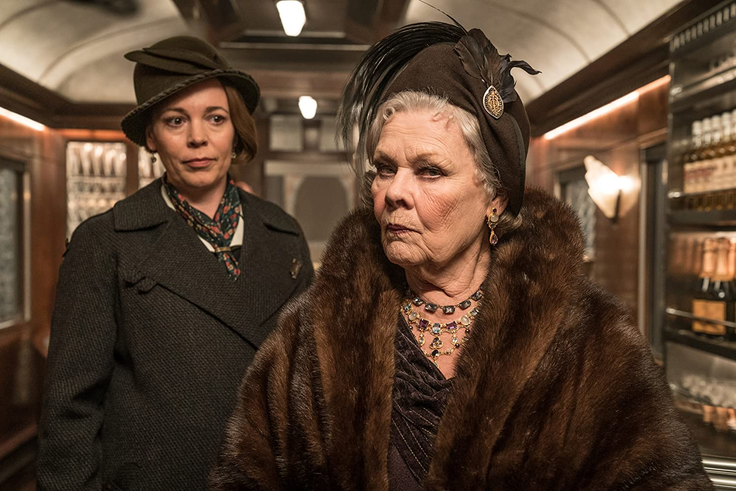 Judi Dench and Olivia Colman in Murder on the Orient Express (2017)