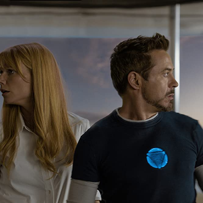 Robert Downey Jr. and Gwyneth Paltrow in Iron Man 3 (2013)