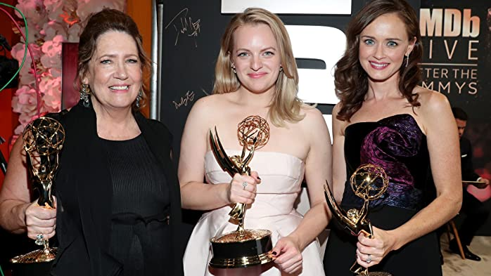 Elisabeth Moss, Alexis Bledel, and Ann Dowd at an event for IMDb at the Emmys: IMDb LIVE After the Emmys 2017 (2017)