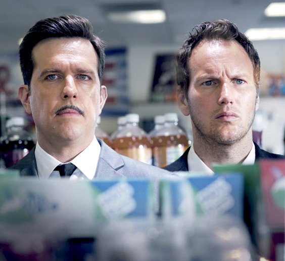 Patrick Wilson and Ed Helms in Stretch (2014)