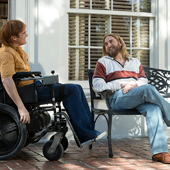 Joaquin Phoenix and Jonah Hill in Don't Worry, He Won't Get Far on Foot (2018)