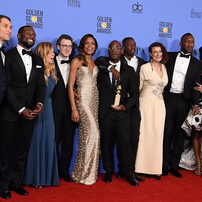 Dede Gardner, Naomie Harris, Mahershala Ali, Jeremy Kleiner, Barry Jenkins, Nicholas Britell, Janelle Monáe, Trevante Rhodes, and Ashton Sanders at an event for The 74th Golden Globe Awards (2017)