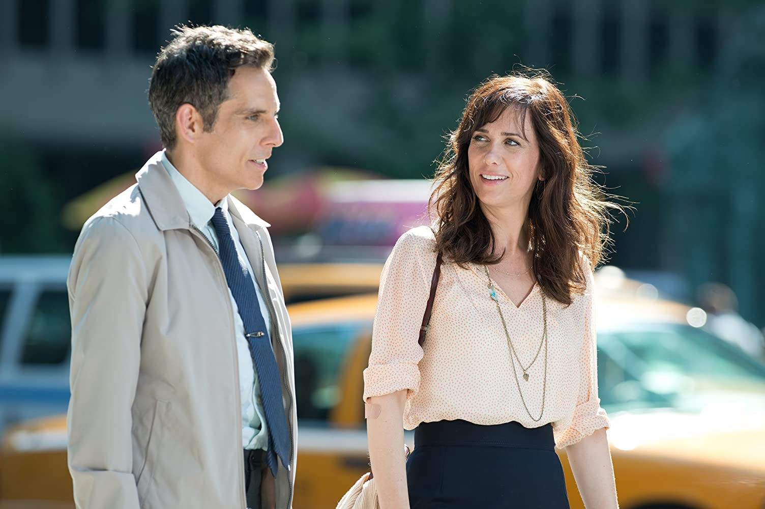 Ben Stiller and Kristen Wiig in The Secret Life of Walter Mitty (2013)