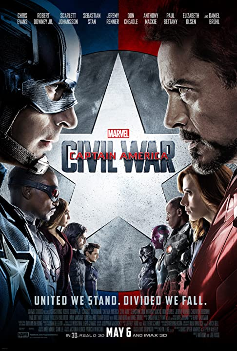 Don Cheadle, Robert Downey Jr., Paul Bettany, Chris Evans, Scarlett Johansson, Elizabeth Olsen, Jeremy Renner, Paul Rudd, Emily VanCamp, Anthony Mackie, Chadwick Boseman, Sebastian Stan and Tom Holland in Captain America: Civil War (2016) Full Movie Watch Online Free Download at www.movies365.in