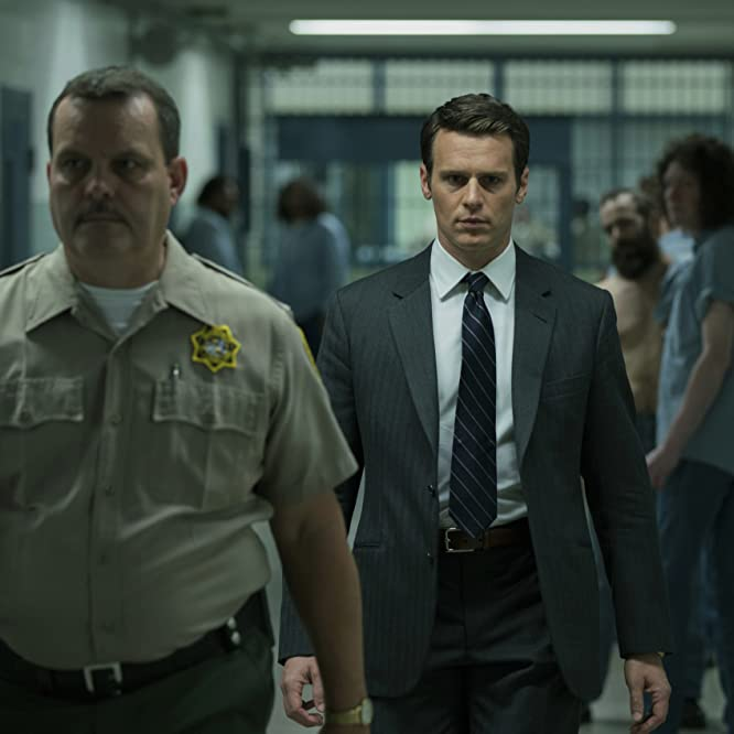 Tom Carlson and Jonathan Groff in Mindhunter (2017)
