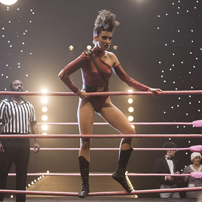 Bashir Salahuddin and Alison Brie in GLOW (2017)