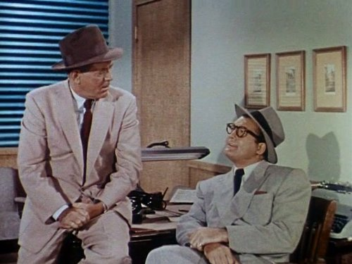 George Reeves and Robert Shayne in Adventures of Superman (1952)