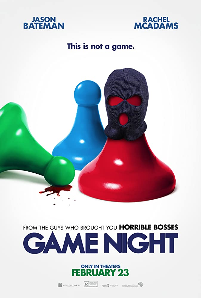 Michael Corenblith, Jamie Gross, and David Egan in Game Night (2018)