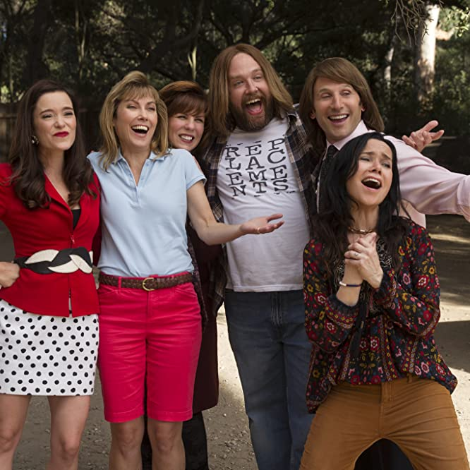 Janeane Garofalo, Mark Feuerstein, Nina Hellman, Marguerite Moreau, Zak Orth, and Sarah Burns in Wet Hot American Summer: Ten Years Later (2017)