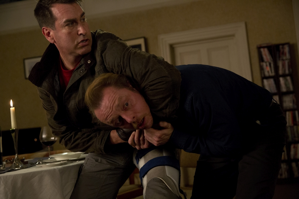 Simon Pegg and Rob Riggle in Absolutely Anything (2015)