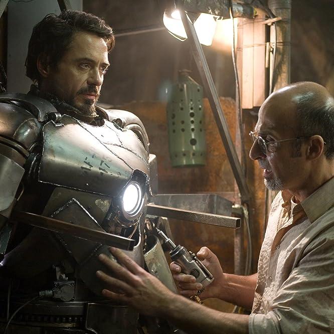 Robert Downey Jr. and Shaun Toub in Iron Man (2008)