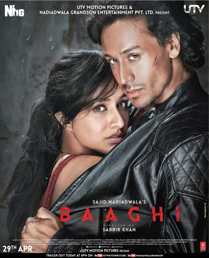 Baaghi 2016 720p DVDRip 950MB Full HD Print Watch Online Free Download Here