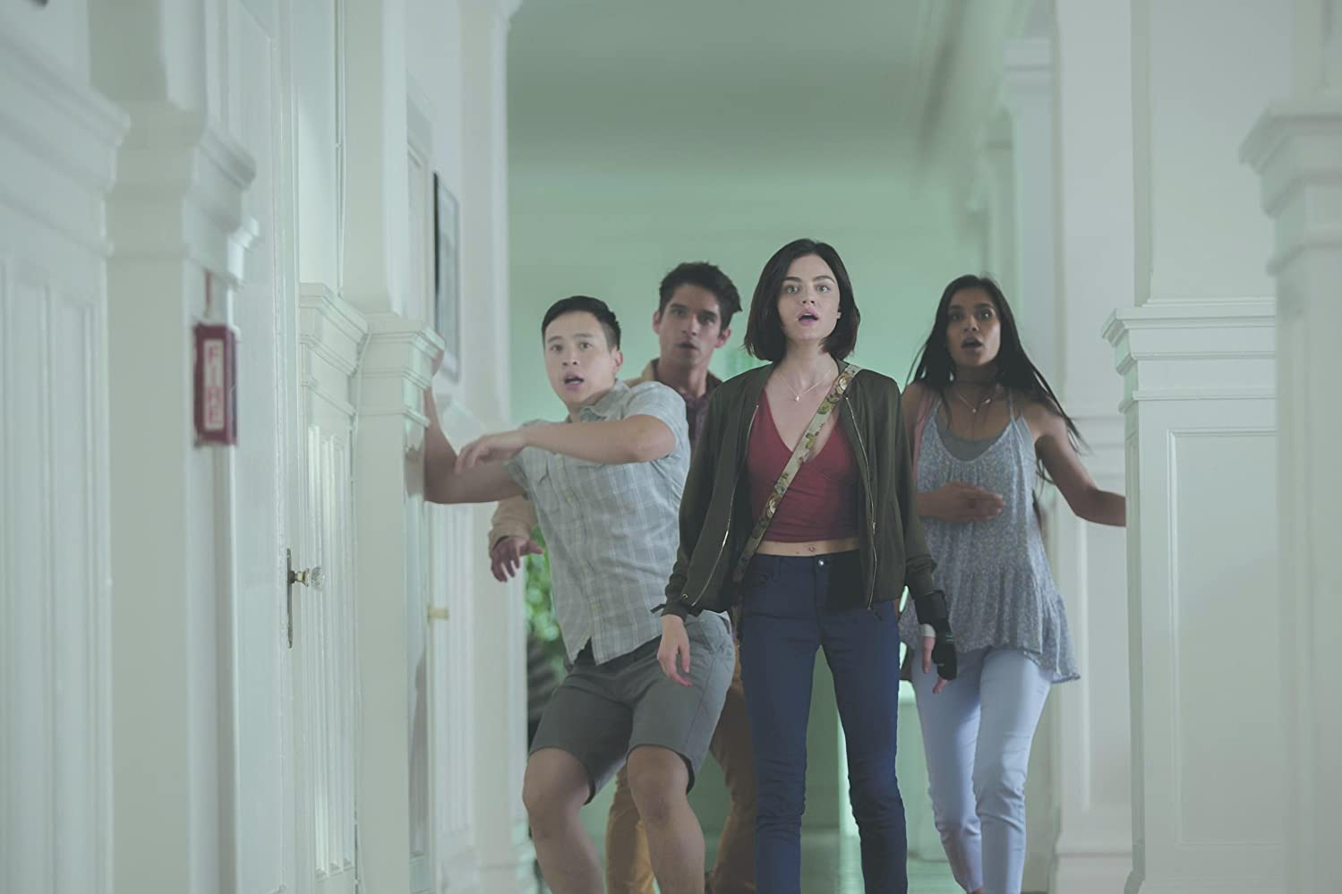 Tyler Posey, Lucy Hale, Sophia Ali, and Hayden Szeto in Truth or Dare (2018)