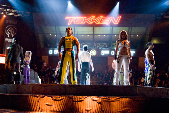 Candice Hillebrand, Kelly Overton, and Lateef Crowder in Tekken (2010)
