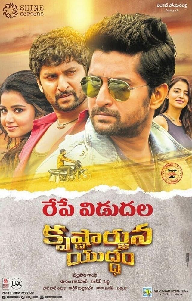 Krishnarjuna Yudham (2018) Telugu 400MB DVDScr 480p x264 Line Audio