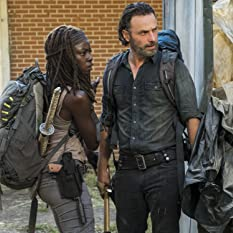 Andrew Lincoln and Danai Gurira in The Walking Dead (2010)