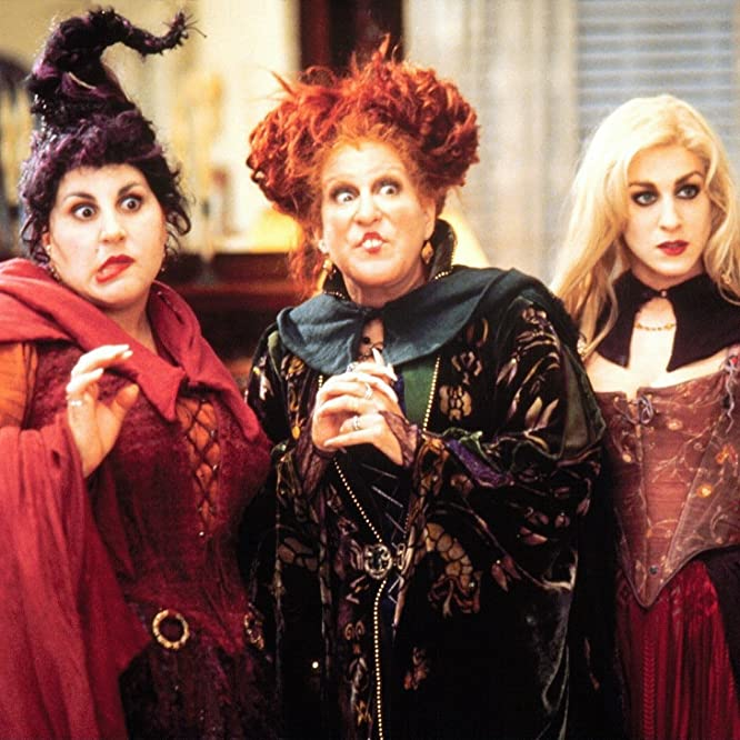 Bette Midler, Sarah Jessica Parker, and Kathy Najimy in Hocus Pocus (1993)