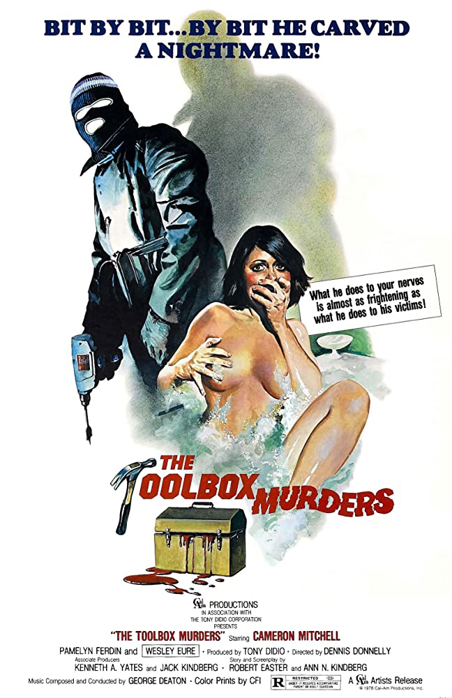 Cameron Mitchell and Kelly Nichols in The Toolbox Murders (1978)