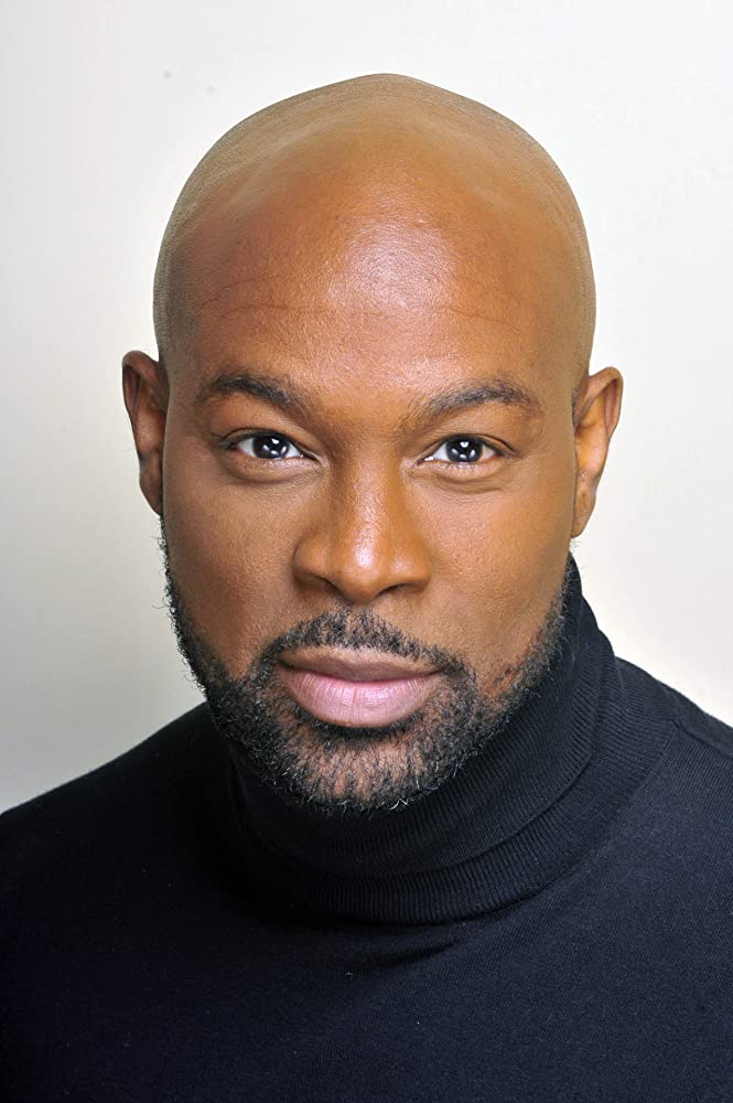 The 46-year old son of father (?) and mother(?), 187 cm tall Darrin Henson in 2018 photo
