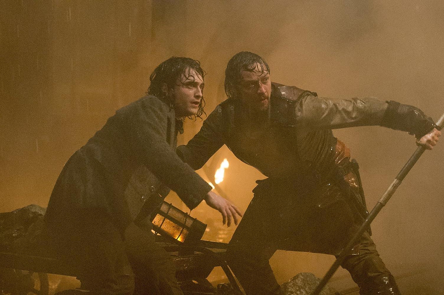 James McAvoy and Daniel Radcliffe in Victor Frankenstein (2015)