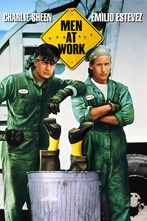 Poster Of Men at Work (1990) Full Movie Hindi Dubbed Free Download Watch Online At movies365.in
