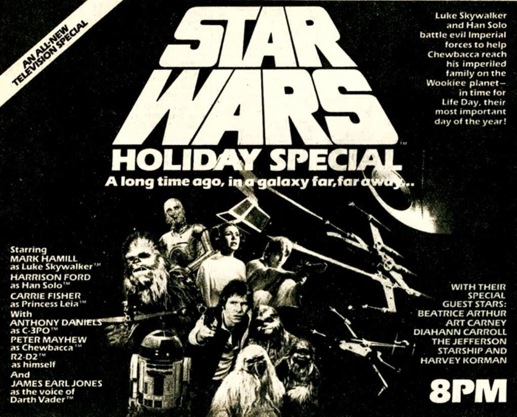 Harrison Ford, Anthony Daniels, Carrie Fisher, Mark Hamill, Kenny Baker, and Peter Mayhew in The Star Wars Holiday Special (1978)