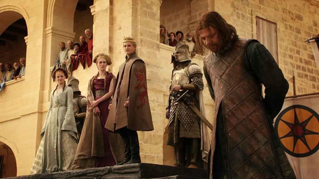 Sean Bean, Jack Gleeson, Lena Headey, and Sophie Turner in Game of Thrones (2011)