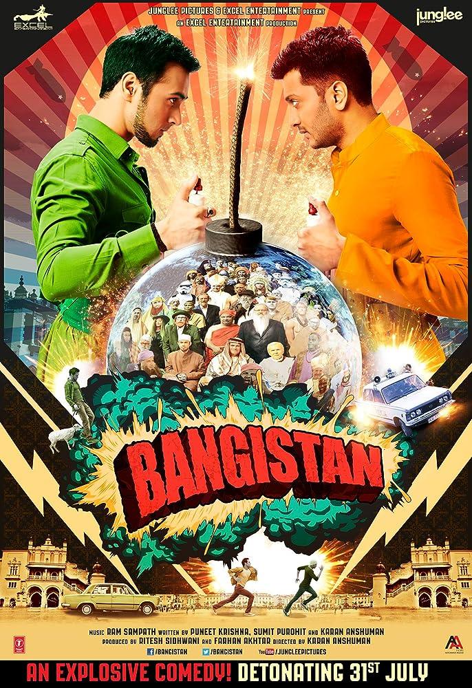 Bangistan 2015 Hindi 720p HDRip x264 AAC ESub - Hon3yHD