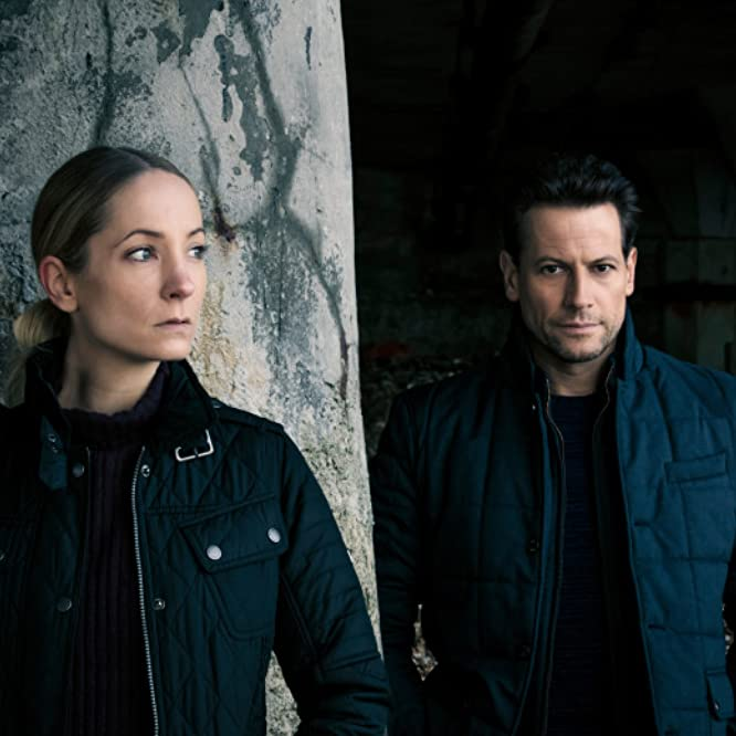 Joanne Froggatt and Ioan Gruffudd in Liar (2017)