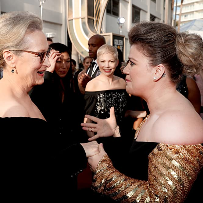 Meryl Streep, Michelle Williams, and Kelly Clarkson