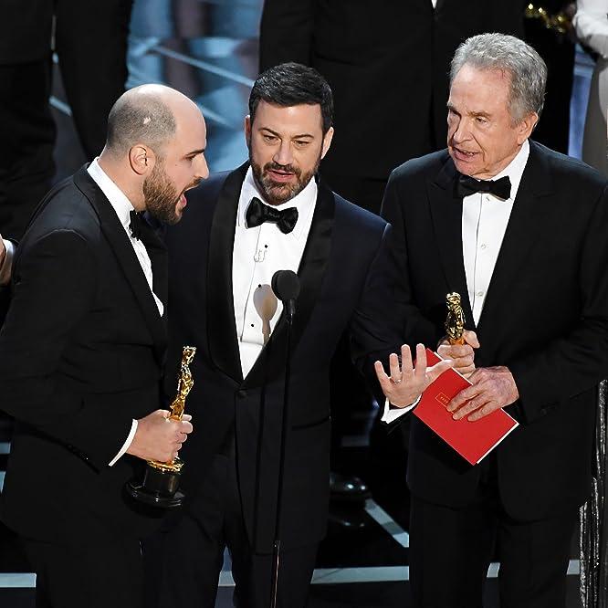 Warren Beatty, Jimmy Kimmel, and Jordan Horowitz