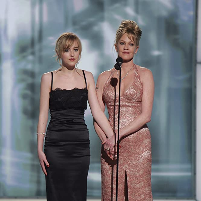 Melanie Griffith and Dakota Johnson at an event for The 63rd Annual Golden Globe Awards (2006)