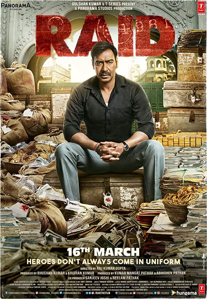 RAID (2018) Pre DvDRip Hindi 1GB AVC ACC (Cleaned Audio)