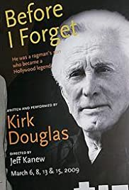 Kirk Douglas: Before I Forget Poster