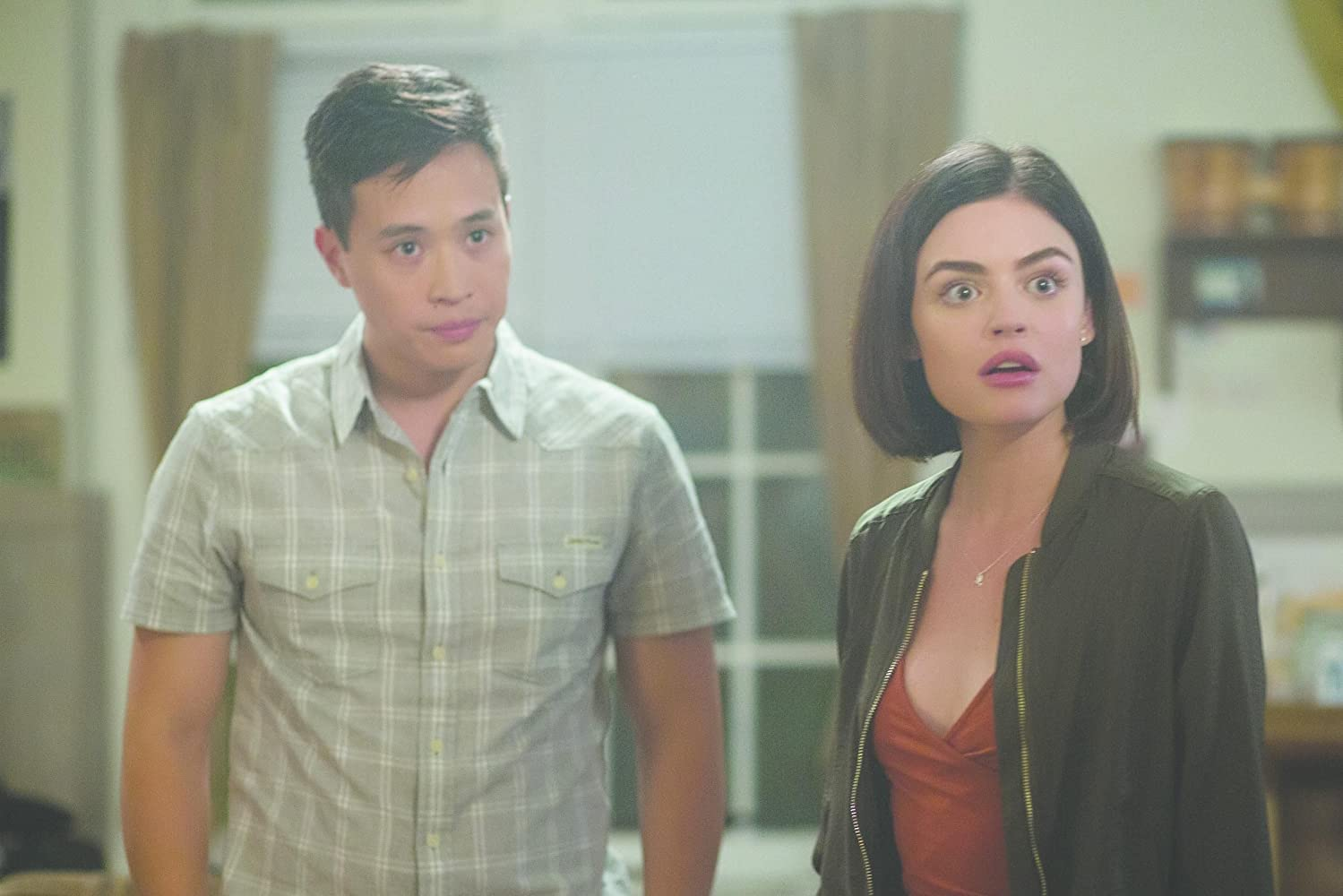 Lucy Hale and Hayden Szeto in Truth or Dare (2018)