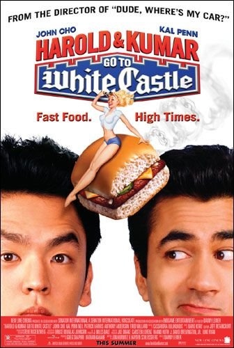 Poster Of Harold & Kumar Go to White Castle (2004) Full Movie Hindi Dubbed Free Download Watch Online At movies365.in