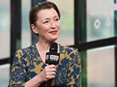 Lesley Manville Admires The Writing On